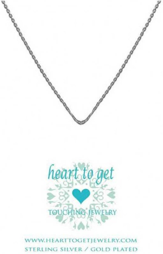 Heart to get chain, silver, adjustable up to 44 cm