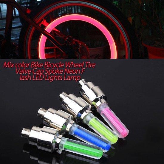 Firefly LED - Fietswielverlichting - Ventielbevestiging - Set van 2 - Roze
