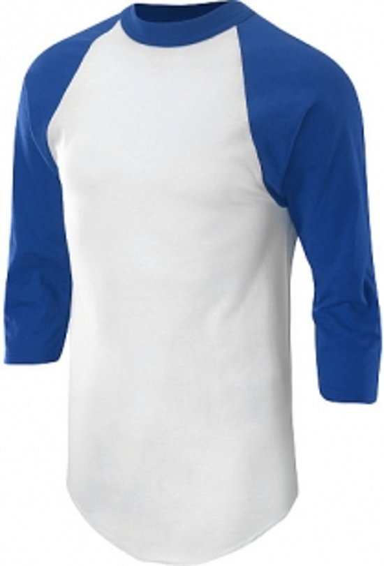 Soffe Raglan Baseball Under shirt - Royal - Youth Small
