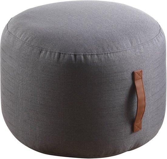Coninx Home poef linnen grijs