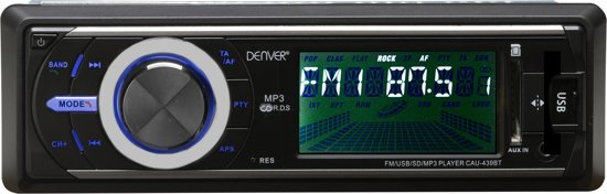 Denver CAU-439BT - 1DIN autoradio met Bluetooth