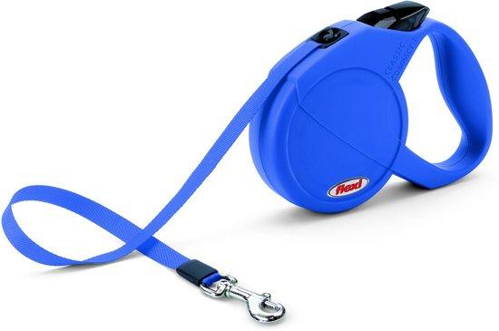 Flexi Classic Compact Blauw 5 mtr tot 15 kg