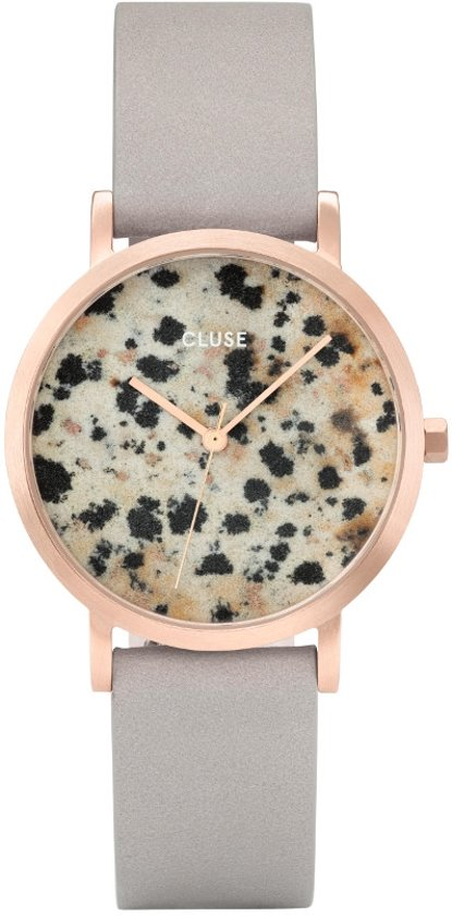 CLUSE CL40106 La Roche Petite Rose Gold Dalmatian Grey horloge
