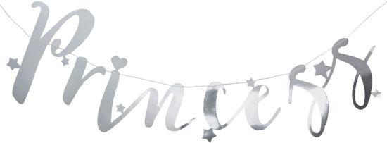 Ginger Ray Princess Party - 'Princess' verjaardag slinger - zilver - 1,50 meter Valentinaa