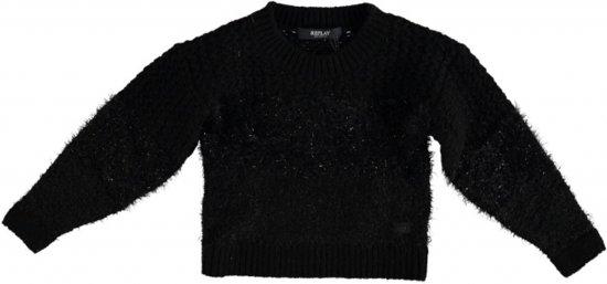 Dikke Zwarte Trui.Bol Com Replay Dikke Zwarte Trui Met Zwart Glitterdraad Maat 140