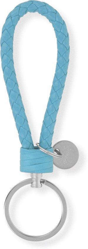 Sleutelhanger | Handgemaakte Blauw Gevlochten Geweven Sleutelhanger| Mode| Auto Sleutelhanger Babyblauw|Mint | Huissleutel | Metalen Sleutelhangers| Sleutelhanger Mannen of Vrouwen | Fietssleutel | Goedkope Sleutelhanger | Mooie Sleutelhanger