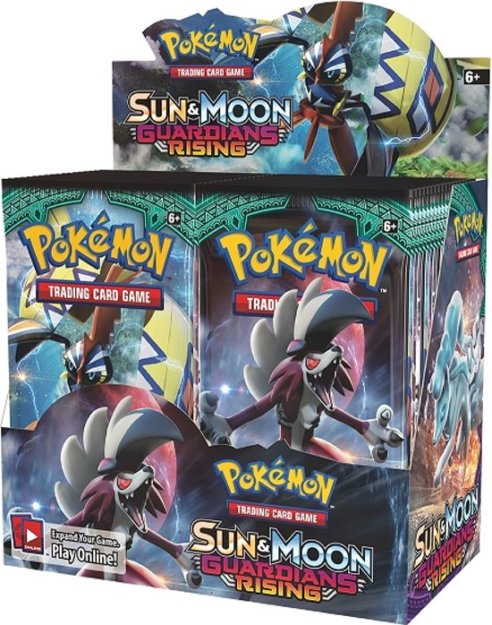 Thumbnail van een extra afbeelding van het spel 2 pakjes Pokemon Kaarten Sun & Moon 2 Boosterbox