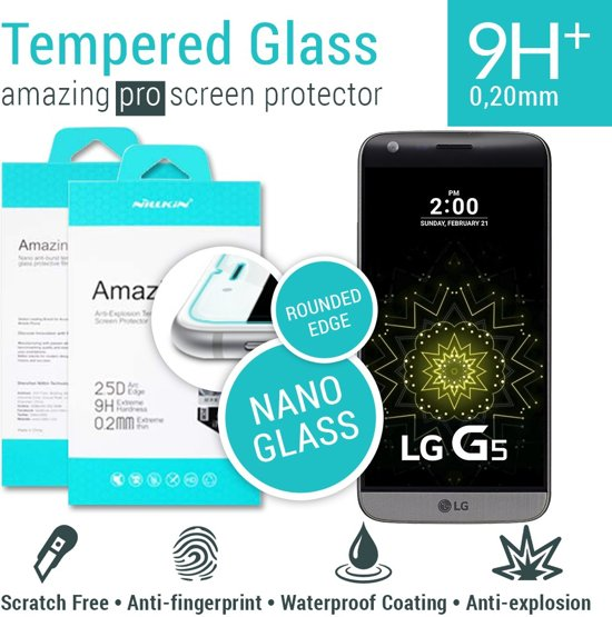 Nillkin Amazing H+ PRO Tempered Glass Protector LG G5  - Rounded Edge in Bornwirdhuizen / Boarnwerthuzen