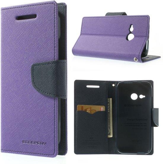 HTC One Mini 2 Hoesje Paars/Donkerblauw in Warisoulx