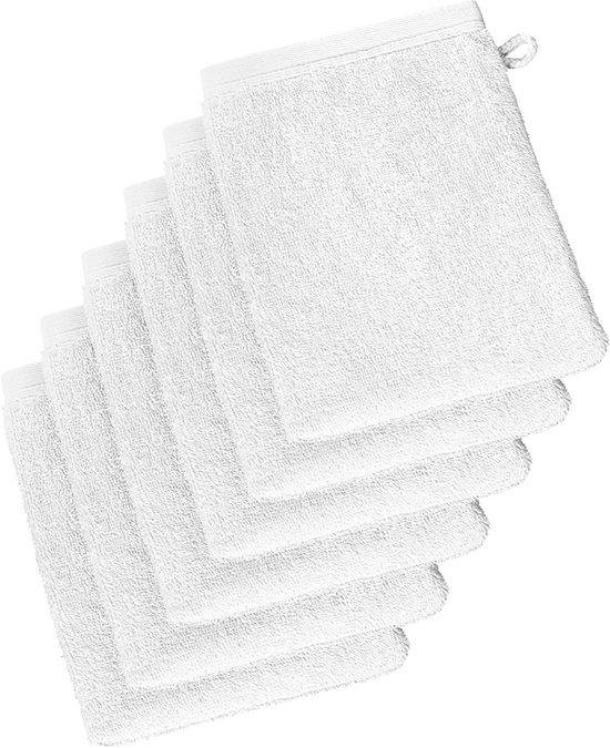 De Witte Lietaer  Imagine  –  Washandjes  -  Wit - Set van 6