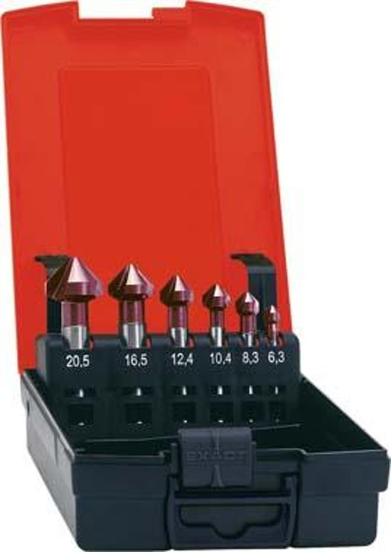 Kopverzinkboren-set D335C TiAIN 6,3-20,5mm, 90 Grad