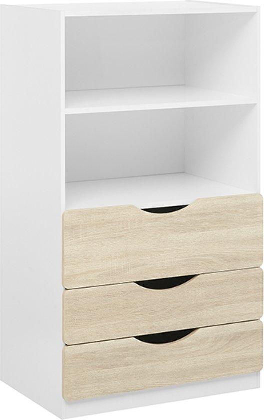 bol.com   True Furniture Tolga - Boekenkast - Eiken / wit