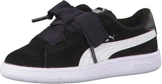 PUMA Smash v2 Ribbon AC Inf Sneakers Kids - Black-White