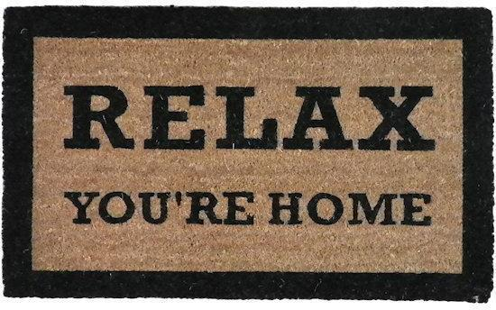 Mars & More - Kokosmat - Deurmat - Relax You're Home - 45x73cm