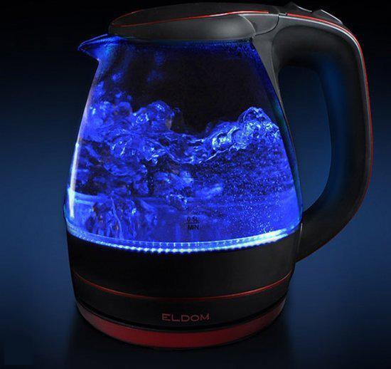 Eldom c400 waterkokers zwart rood for Waterkoker led verlichting