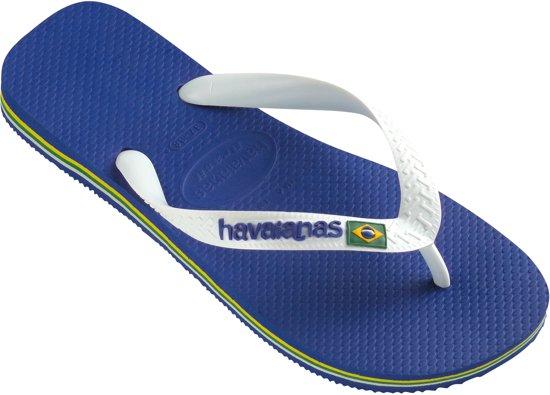 5892b8719e36a Havaianas Brasil Logo Unisex Slippers - Marine-Blue - Maat 35 36