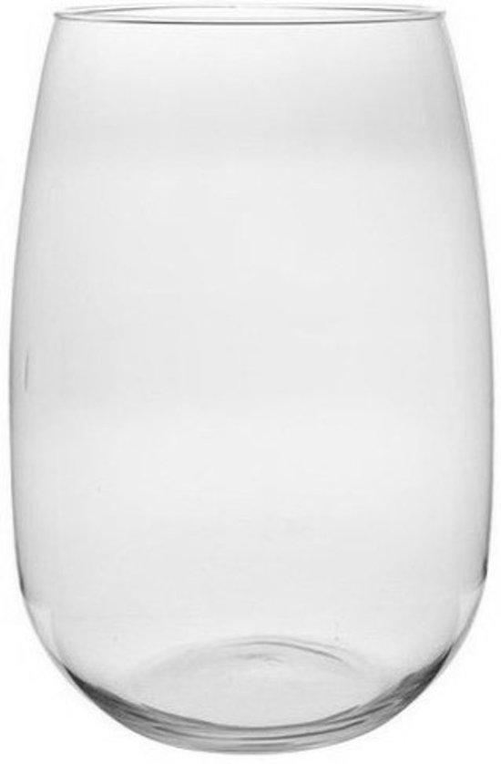 Grote Vaas Glas.Ronde Vaas Helder Glas 40 Cm