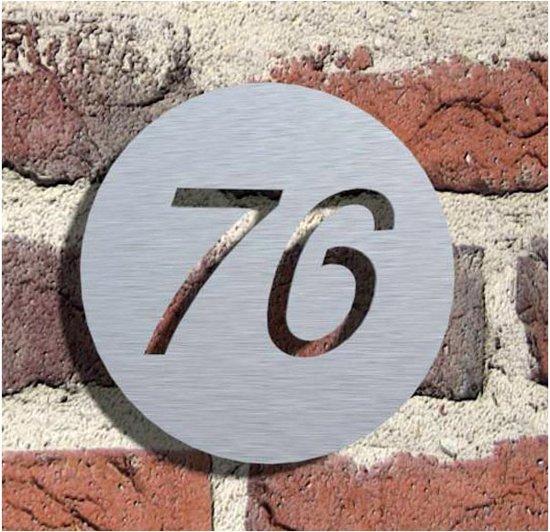 "Geborsteld RVS 316 naambord ""NPL7"""