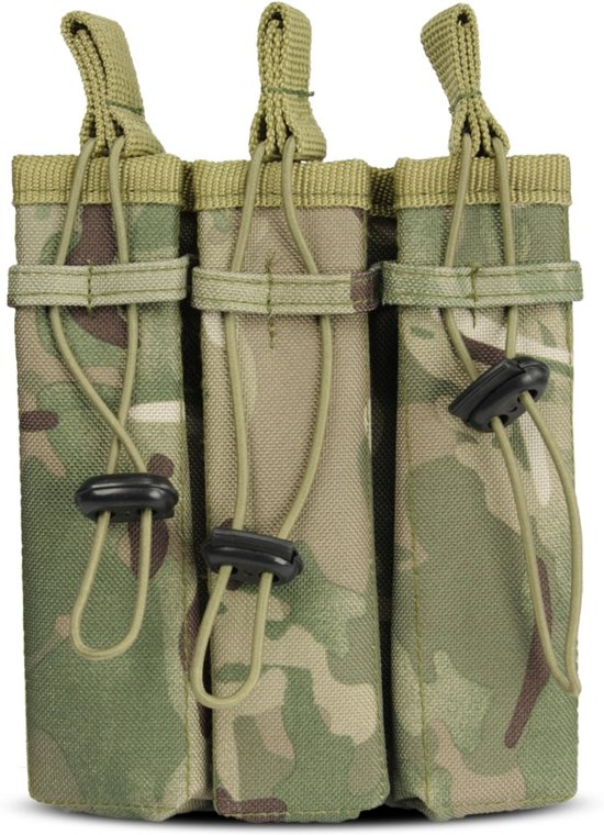 101Inc Molle pouch Sidearm 3 Mag. B multi camo