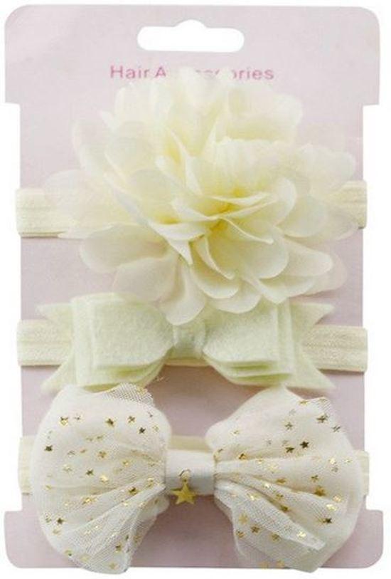 Bolcom Haarbandjes Crème Baby Peuter Haar Accessoires