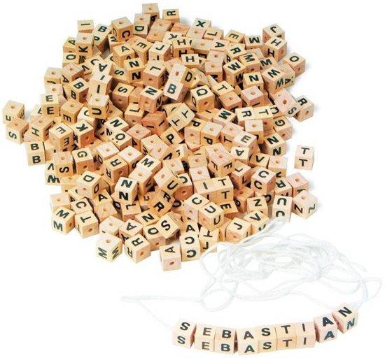 Houten alfabet kralen