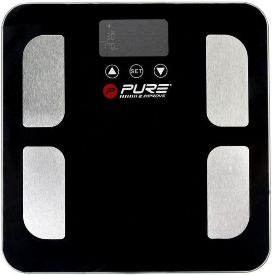 Pure2Improve BMI personen weegschaal - met vetmeting - body-mass