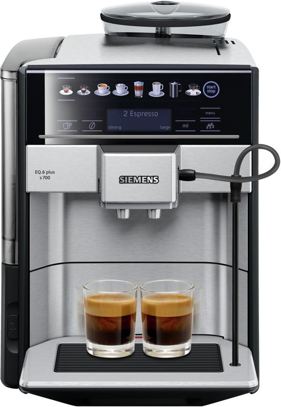 Siemens EQ6 Plus TE657313RW - Espressomachine - RVS