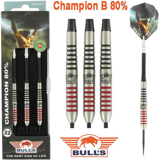 BULL'S Champion B 80% Dartpijlen - 24 gram