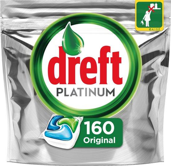 Dreft Platinum Regular - Halfjaarbox 4x40 Stuks - Vaatwastabletten
