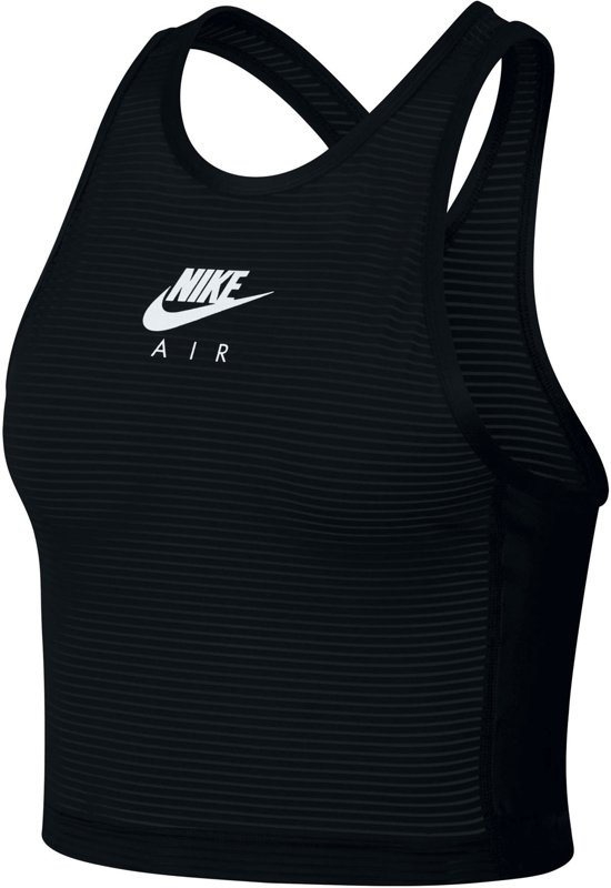 Nike Miler Hardloop  Sporttop - Maat M  - Vrouwen - zwart/wit