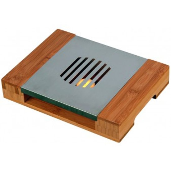 Bamboe / RVS warmhoudplaat