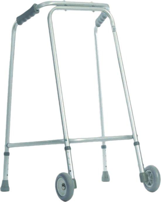 Aidapt -lichtgewicht looprek - met wielen - maat medium