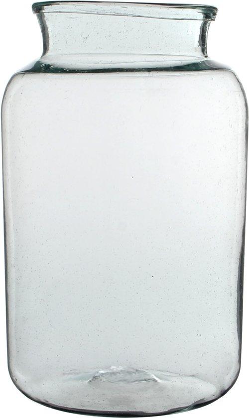 Mica decorations - Handgemaakte glazen vaas Vienne maat in cm: H 40cm x D 23cm Transparant