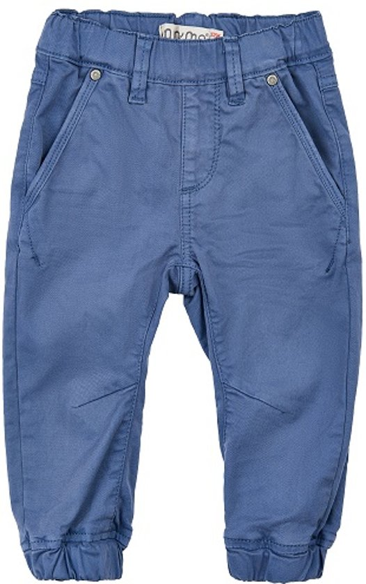 Minymo - broek - twill loose - blauw