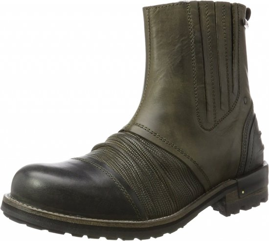 Cab M Tear Leren Yellow Boots Olive WH2ED9I