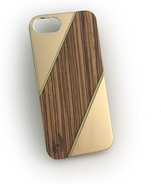 Hoentjen Creatie, Houten hardcase Zebrano Champagne - iPhone 5 / 5s