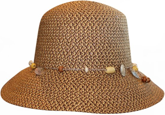 4da979648b85b8 Rigon UV bucket Hoed Dames - Bruin - Maat 57cm