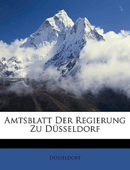 Amtsblatt Der Regierung Zu Dusseldorf