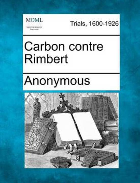 Carbon Contre Rimbert