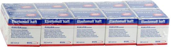 Elastomull Haft, fixatiewindsel, 4cm x 4m, 10 rollen