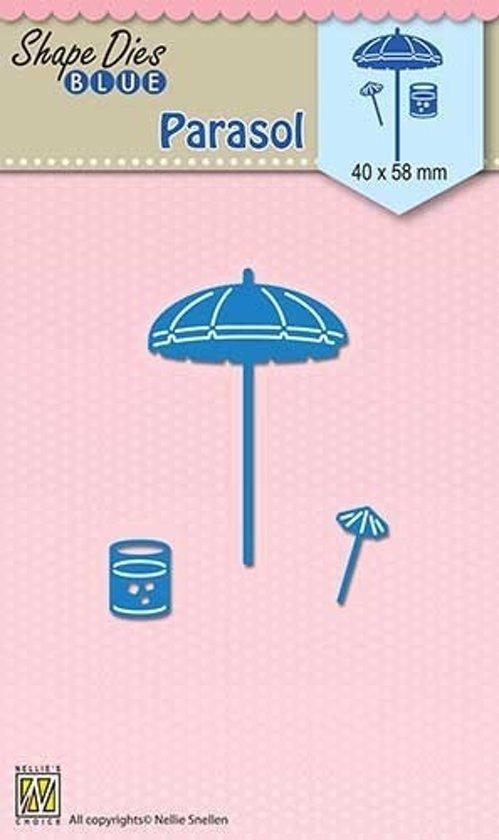 Vorm Mal blauw Vakantie  Parasol
