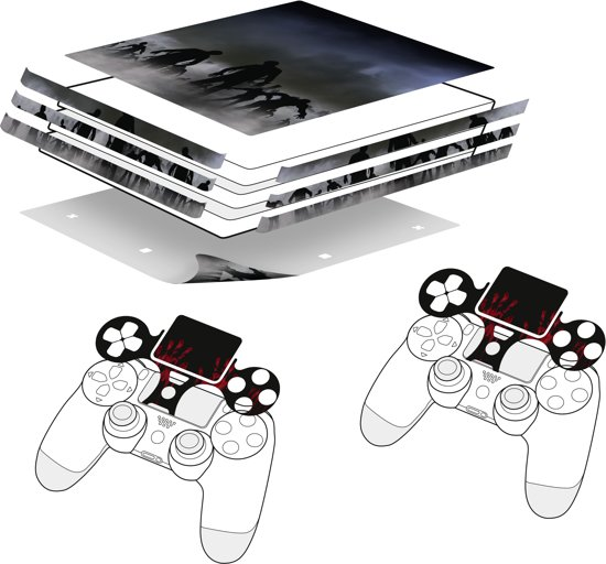 Speedlink - Sticker for PS4 Pro & Controller - Zombie
