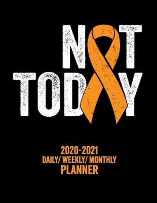 Not Today Multiple Sclerosis: 2020 -2021 Daily/ Weekly/ Monthly Planner: 2-Year Personal Planner with Grid Calendar MS Orange Awareness Ribbon Appoi