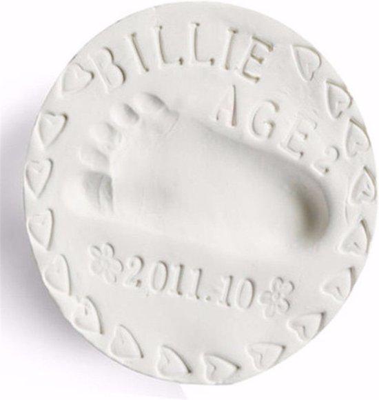 Klei afdruk hand / voet (2 stuk, kleur wit) - Goedkoper alternatief gipsafdruk baby