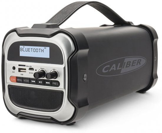Caliber HPG525DAB-BT - Bluetooth speaker met  Dab+ - Zwart Zilver