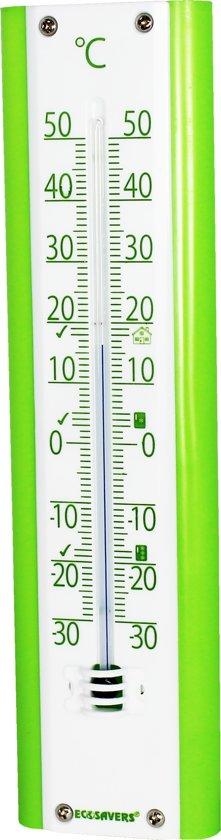 EcoSavers Thermometer Binnen en Buiten met advieswaarden voor vriezer , koelkast en woonkamer - hoge kwaliteit