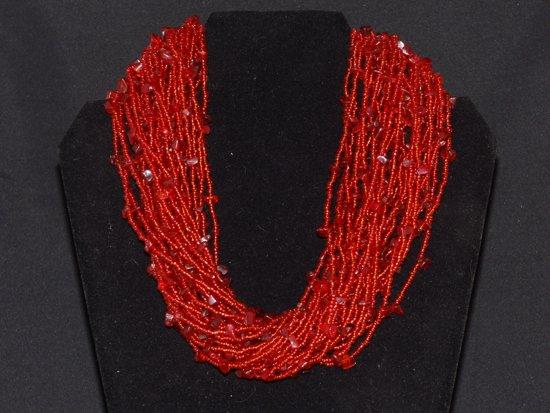 Zeer bol.com | Rode kralen ketting met grappig effect &OW47