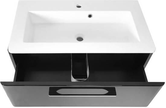 Badkamerkast Zwart Hoogglans : Bol grete wastafelonderkast met wastafel cm zwart