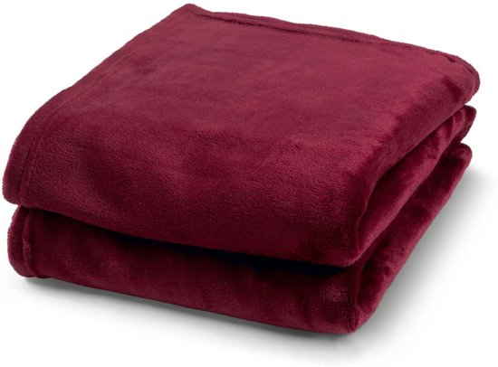 Plaid Flanel 150x200 cm bordeaux