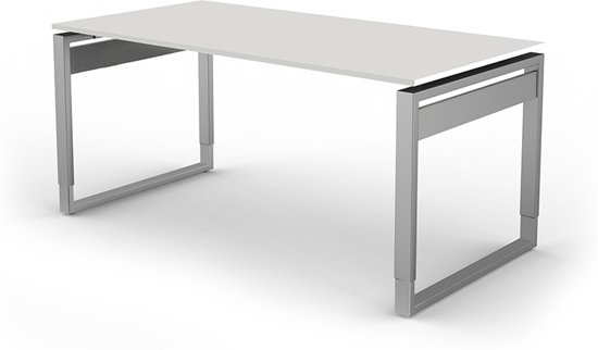 Bureau Workspace 160cm wit hoogte verstelbaar